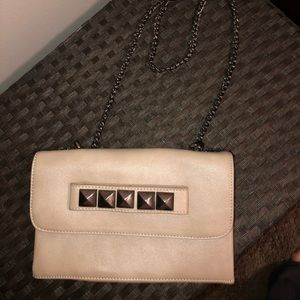 Forever 21 Studded clutch with removable chain